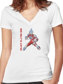 Ready Player One Ultra Man Women's Fitted V-Neck T-Shirt