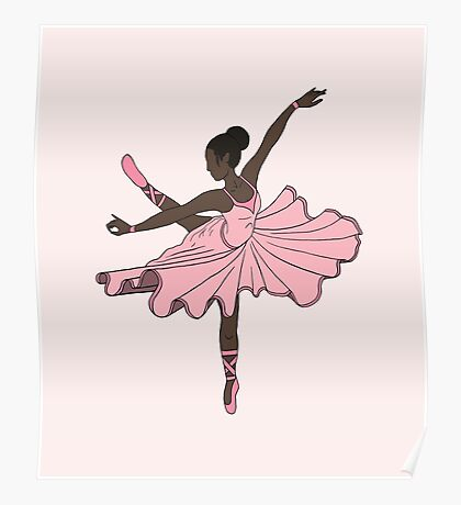 Cute Pink Dance Ballerina Princess Poster