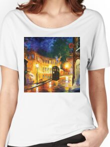 tardis starry night cute  Women's Relaxed Fit T-Shirt