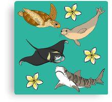 Hawaiian Ocean Critters Canvas Print