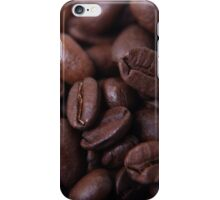Coffee beans up close iPhone Case/Skin