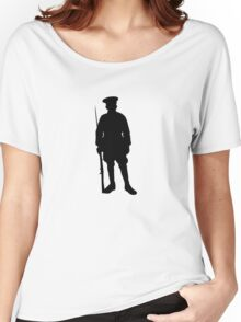 Military Silhouette Women's Relaxed Fit T-Shirt