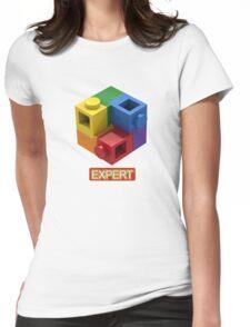 'Expert' Builder T-Shirt Featuring a Brick Built Rainbow Puzzle Womens Fitted T-Shirt