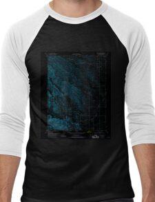 USGS TOPO Map California CA Stone Valley 300693 1952 24000 geo Inverted Men's Baseball ¾ T-Shirt