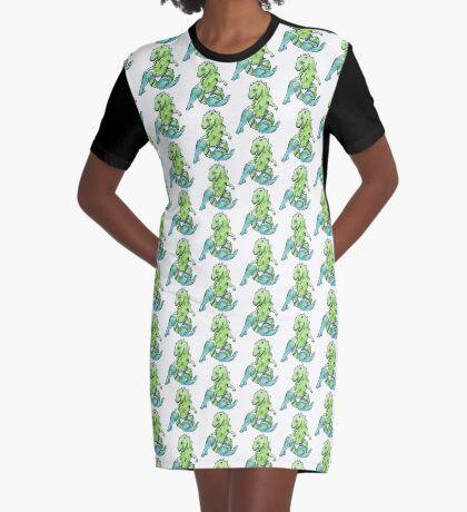 Naughty Dino-girl Graphic T-Shirt Dress