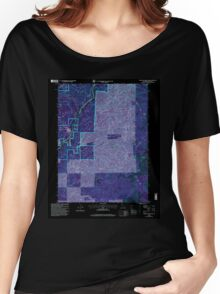 USGS TOPO Map California CA Tombstone Mountain 102036 1998 24000 geo Inverted Women's Relaxed Fit T-Shirt