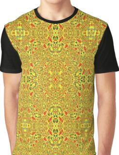 Strange abstract pattern with a lot of yellow Graphic T-Shirt
