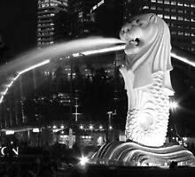 The Merlion 2 - Marina Bay, Singapore by Leanne Allen