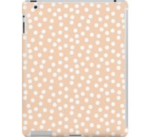 Peach White Dots iPad Case/Skin
