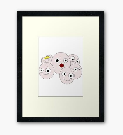 Silly Exeggcute Framed Print