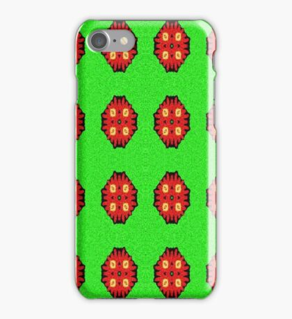 Green Red abstract pattern iPhone Case/Skin