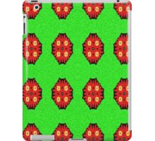 Green Red abstract pattern iPad Case/Skin