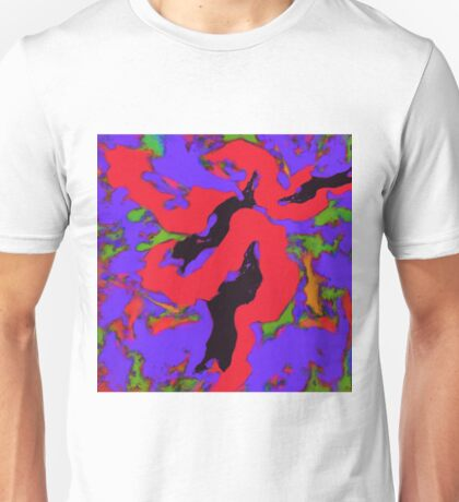 Meander red Unisex T-Shirt