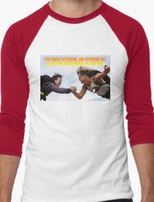 Fear causes hesitation Men's Baseball ¾ T-Shirt