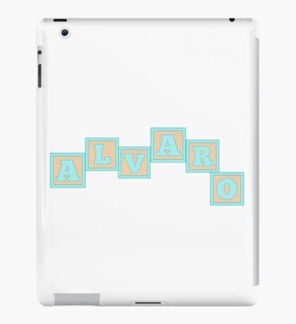 Baby Alvaro in alphabet building blocks iPad Case/Skin