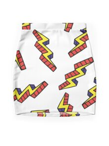 Pop art thunderbolts Mini Skirt