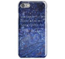 snowflake in blue 7 haiku with texture iPhone Case/Skin