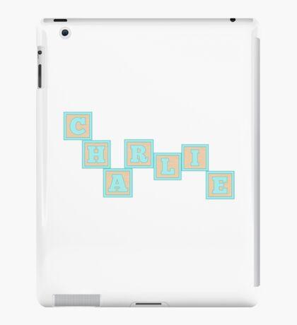 Baby Charlie in alphabet building blocks iPad Case/Skin