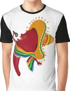 Red chili pepper singing Graphic T-Shirt