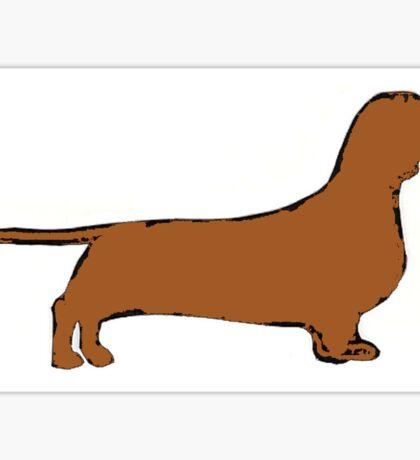 dachshund color silhouette Sticker