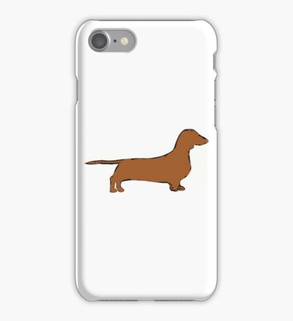 dachshund color silhouette iPhone Case/Skin