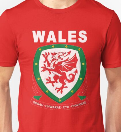 Wales National Football Game Theme Unisex T-Shirt