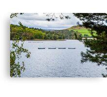 Boats on Ladybower Canvas Print