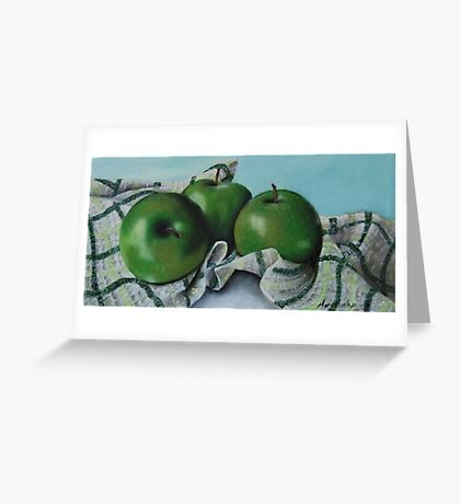 Green Apple Tea Towel II Greeting Card