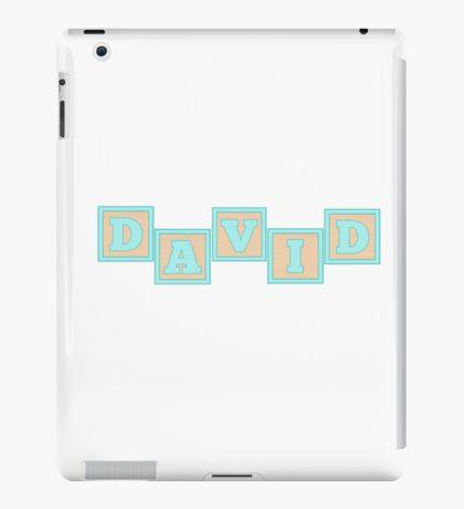 Baby David in alphabet building blocks iPad Case/Skin