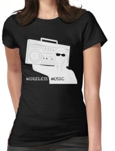 Wireless Music Womens Fitted T-Shirt