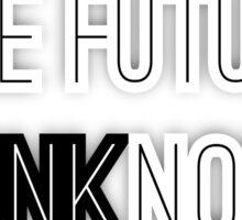Black & White Future Sticker