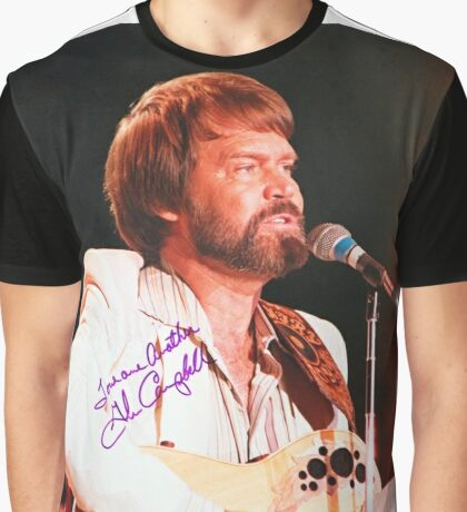 Glen Campbell Autographed Poster Graphic T-Shirt