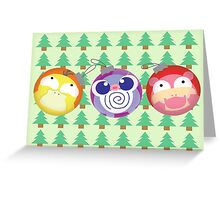 POKEMON CHRISTMAS ORNAMENTS Greeting Card