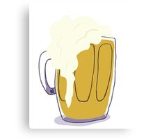 Beer in a Mug Canvas Print