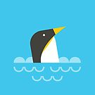 Swimming penguin by psygon
