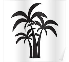 Palm Trees Graphic Poster