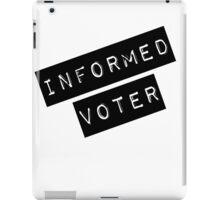 Informed Voter Label iPad Case/Skin