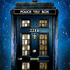 Blue Phone Box with 221b number by Latifa Salma lufa Poerawidjaja