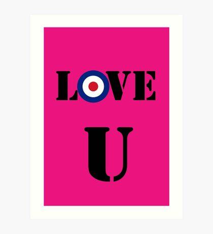 Mod Valentines card Art Print