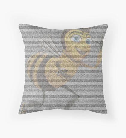 script movie bee Throw Pillow