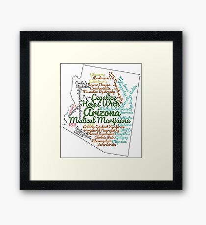 Arizona Legalize Marijuana Cannabis Weed Framed Print