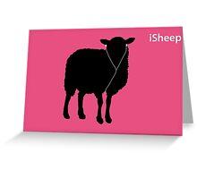 iSheep Magenta Greeting Card