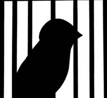 Black Caged Bird Sticker