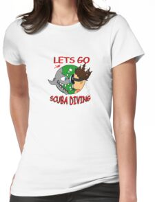 Lets Go Diving Womens Fitted T-Shirt