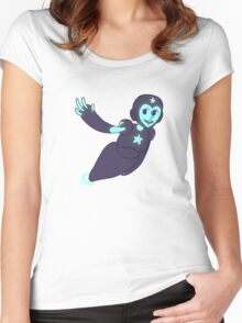 Cute Robot Girl Women's Fitted Scoop T-Shirt