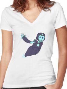 Cute Robot Girl Women's Fitted V-Neck T-Shirt
