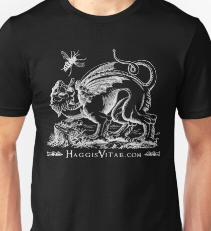 Medieval Monster Chases a Wasp Unisex T-Shirt