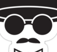 Moustache Man Sticker