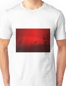 Giraffe Sunset - African Wildlife - Red Three Beauty Unisex T-Shirt