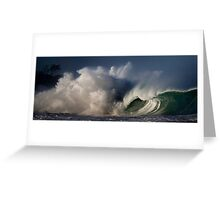 Winter Waves At Waimea Bay 4 Greeting Card